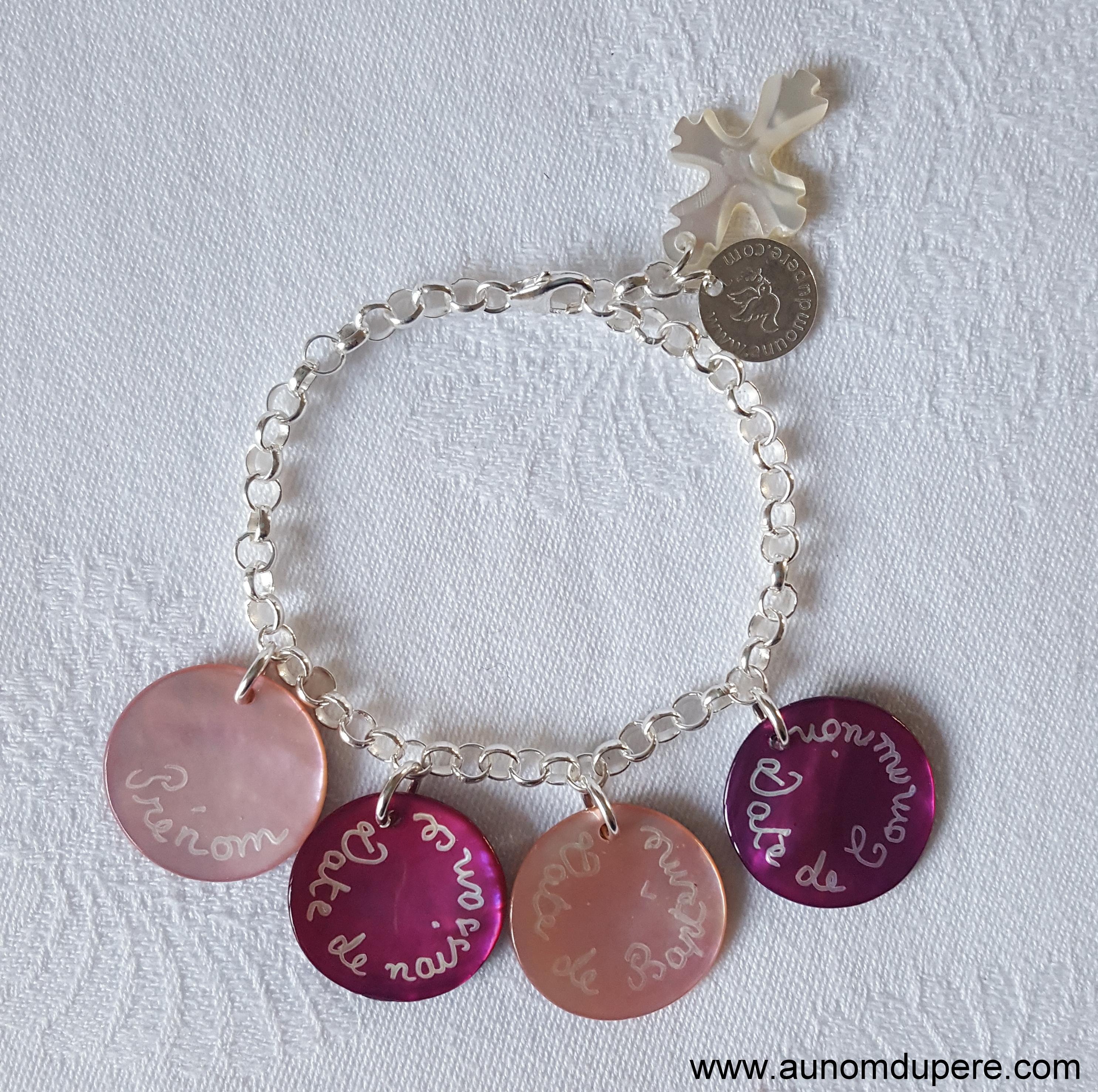 Bracelet De Communion Au Nom Du Pere Bijoux