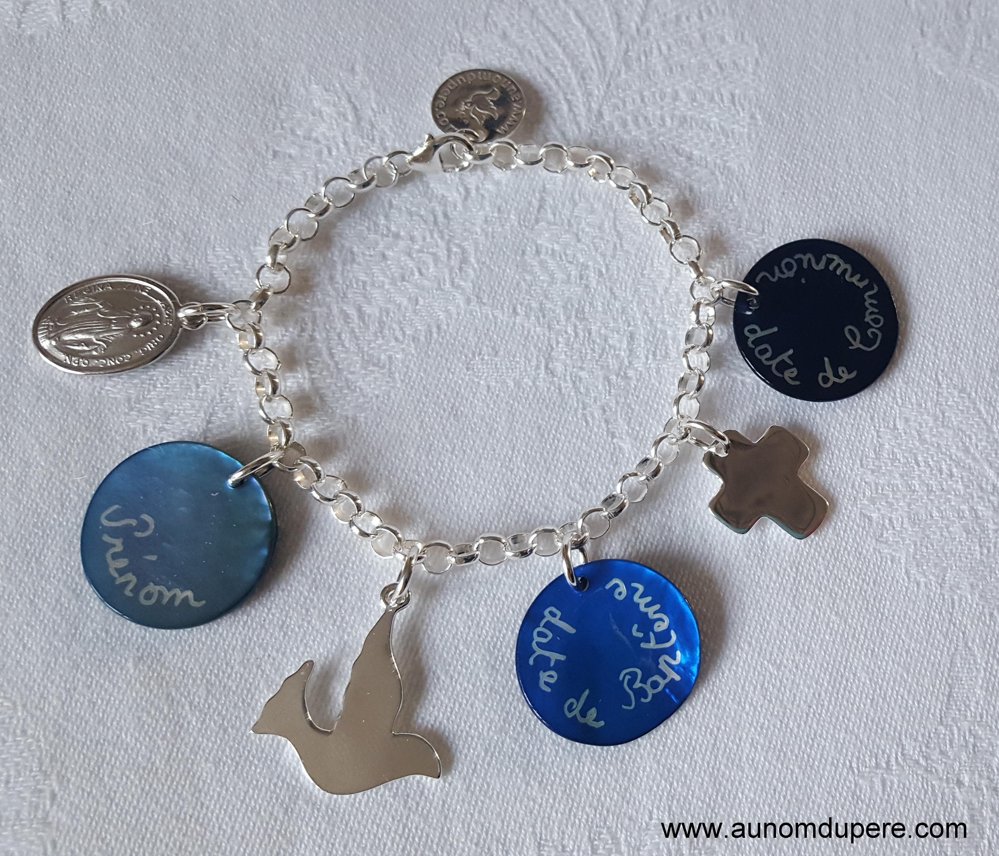 Bracelet de Communion avec pendentifs
