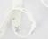 Ruban fond blanc étoiles argent