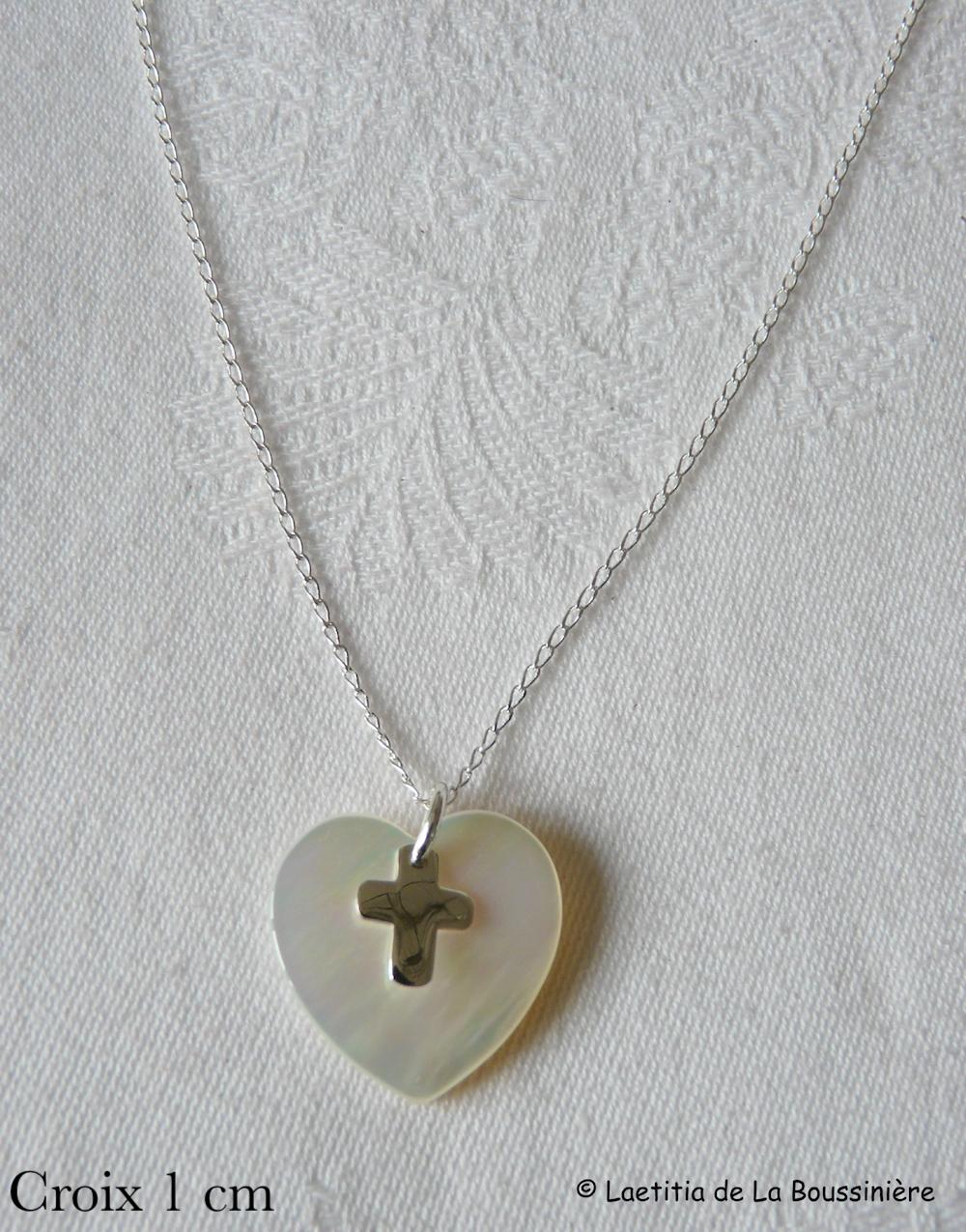 Collier coeur et Croix