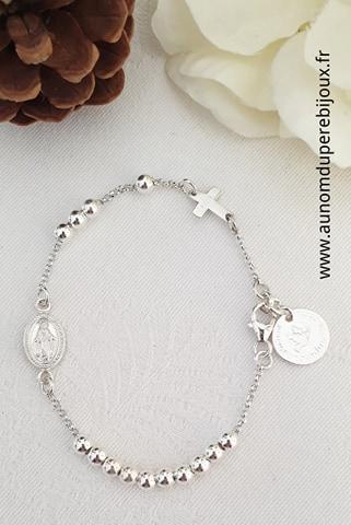 Bracelet Chapelet - en argent massif ou en plaqué or