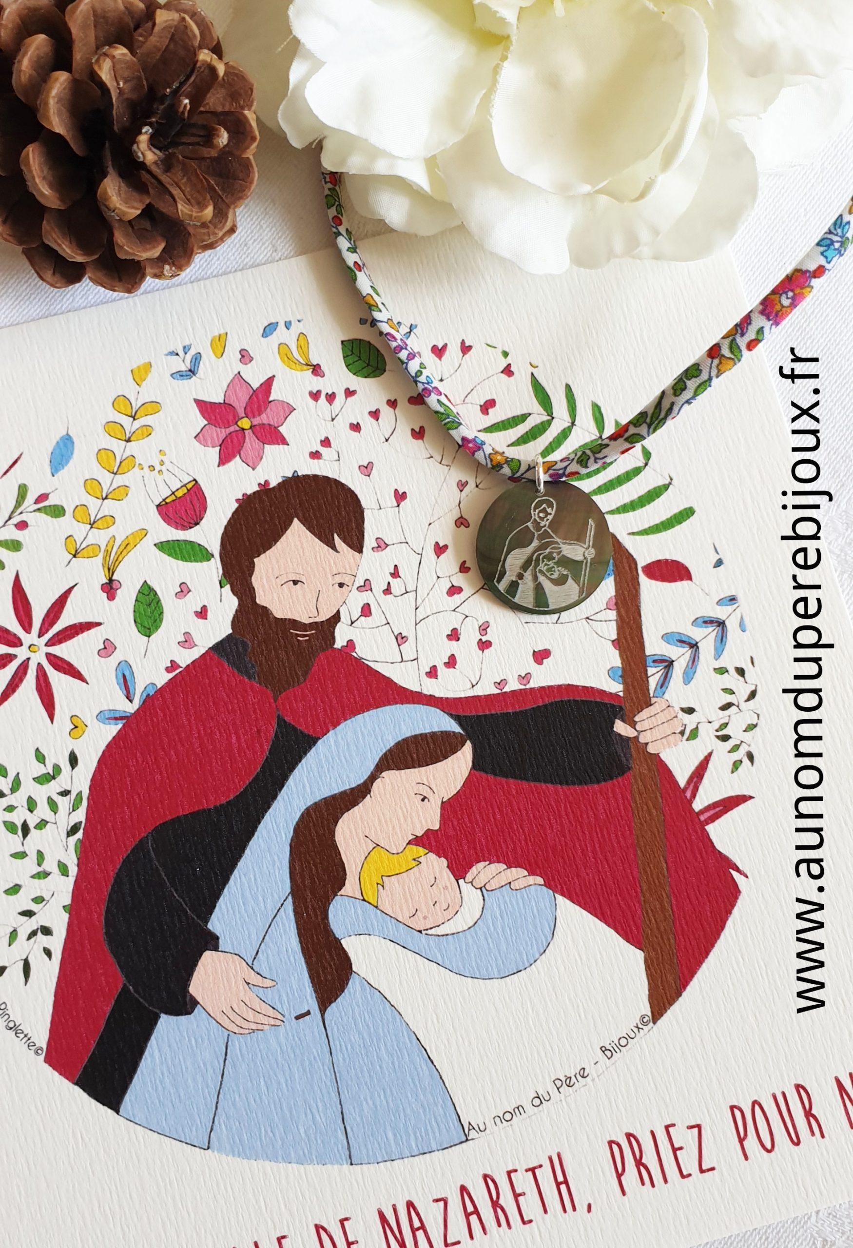 Catho box St Joseph et la Ste Famille (collier)