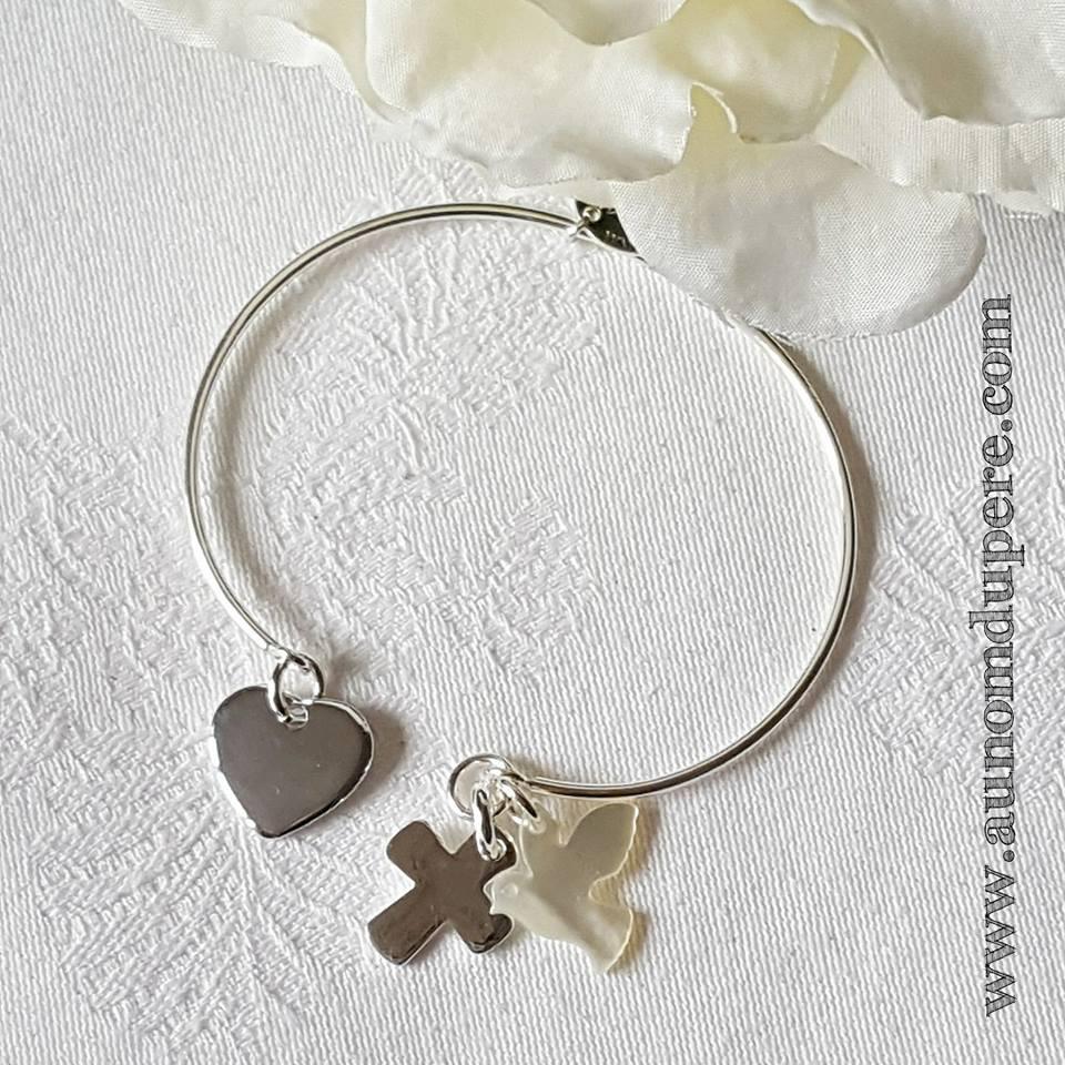 Bracelet demi-jonc Sainte Trinité