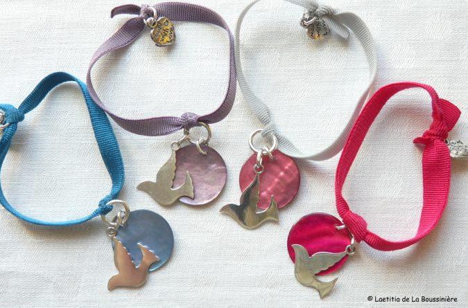 Bracelet de Confirmation sur ruban élastique