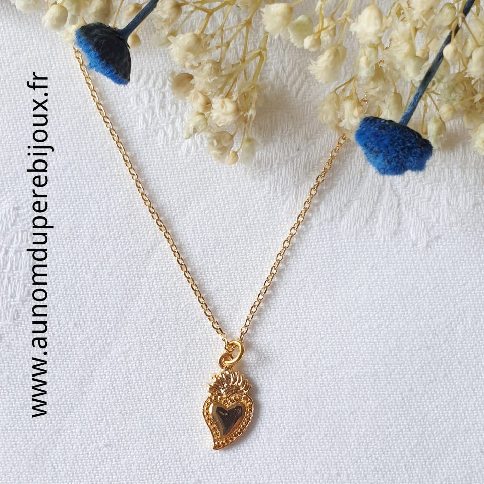 Collier pendentif mini Sacré-Cœur
